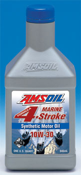 AMSOIL 10W-30 Formula 4-Stroke Synthetic Outboard Oil